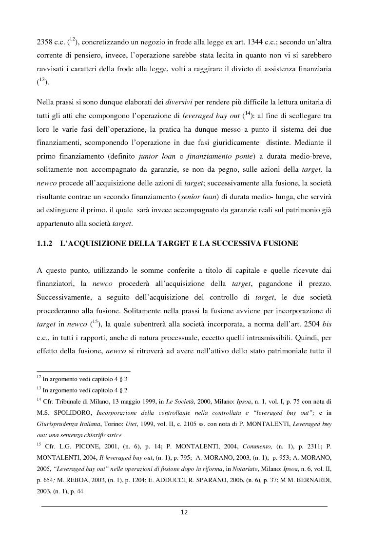 Anteprima della tesi: Il merger leveraged buy out - L'art. 2501 bis nella riforma del diritto societario, Pagina 4