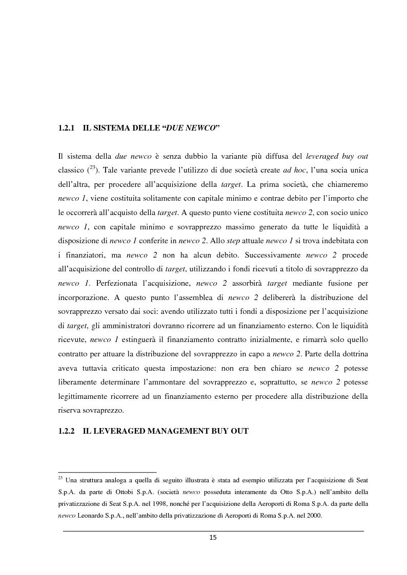 Anteprima della tesi: Il merger leveraged buy out - L'art. 2501 bis nella riforma del diritto societario, Pagina 7