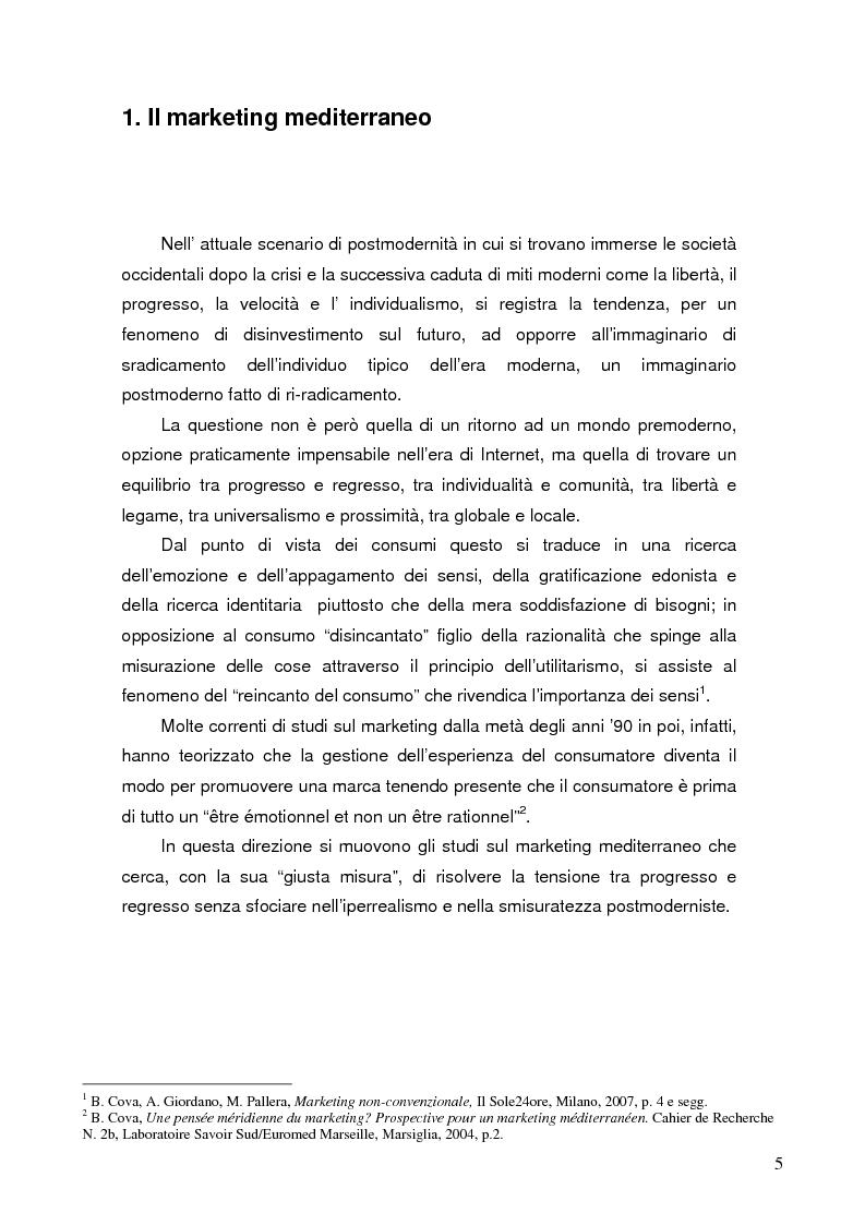 Anteprima della tesi: Comunicare i valori mediterranei: il caso Camper, Pagina 2