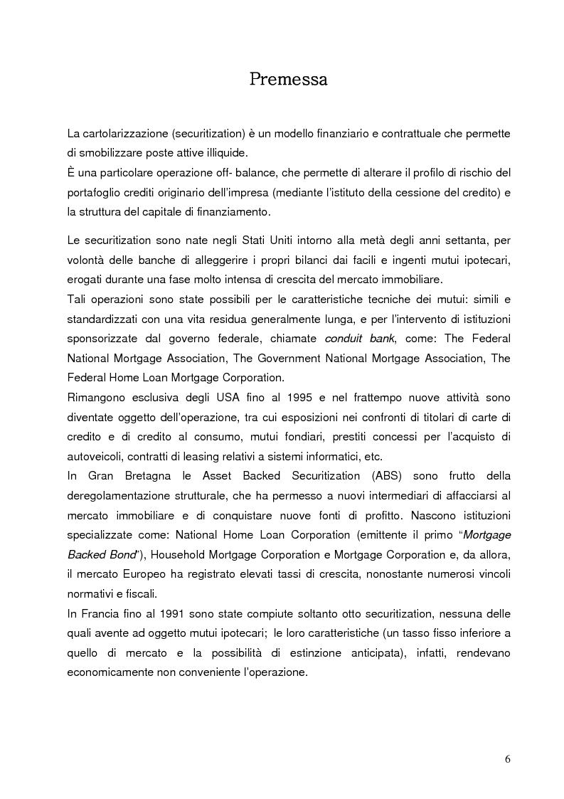 Anteprima della tesi: Aspetti finanziari e reali della cartolarizzazione dei crediti delle imprese siciliane, Pagina 1