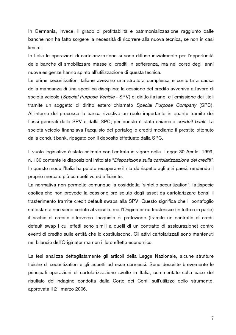 Anteprima della tesi: Aspetti finanziari e reali della cartolarizzazione dei crediti delle imprese siciliane, Pagina 2