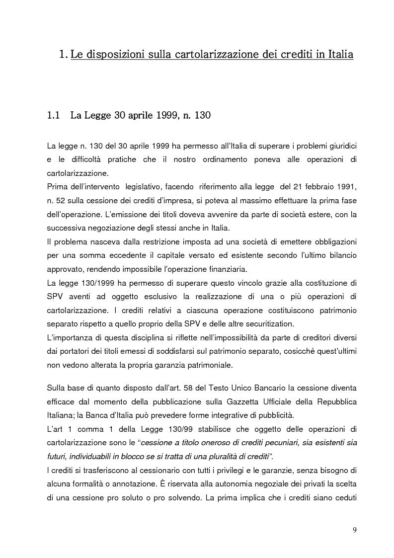 Anteprima della tesi: Aspetti finanziari e reali della cartolarizzazione dei crediti delle imprese siciliane, Pagina 4