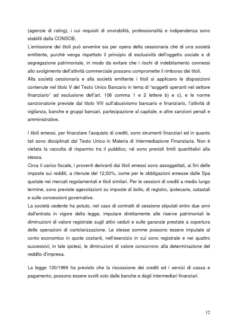 Anteprima della tesi: Aspetti finanziari e reali della cartolarizzazione dei crediti delle imprese siciliane, Pagina 7