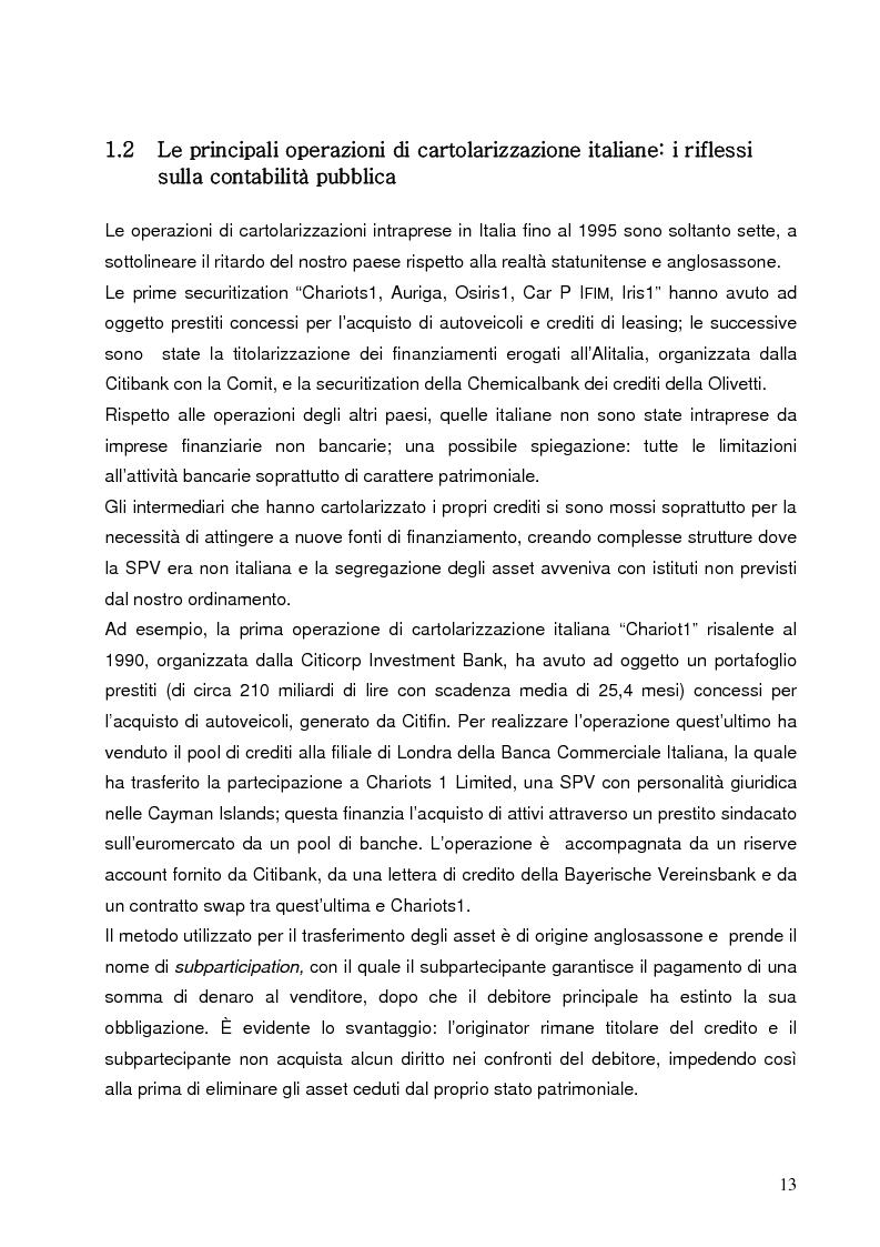 Anteprima della tesi: Aspetti finanziari e reali della cartolarizzazione dei crediti delle imprese siciliane, Pagina 8