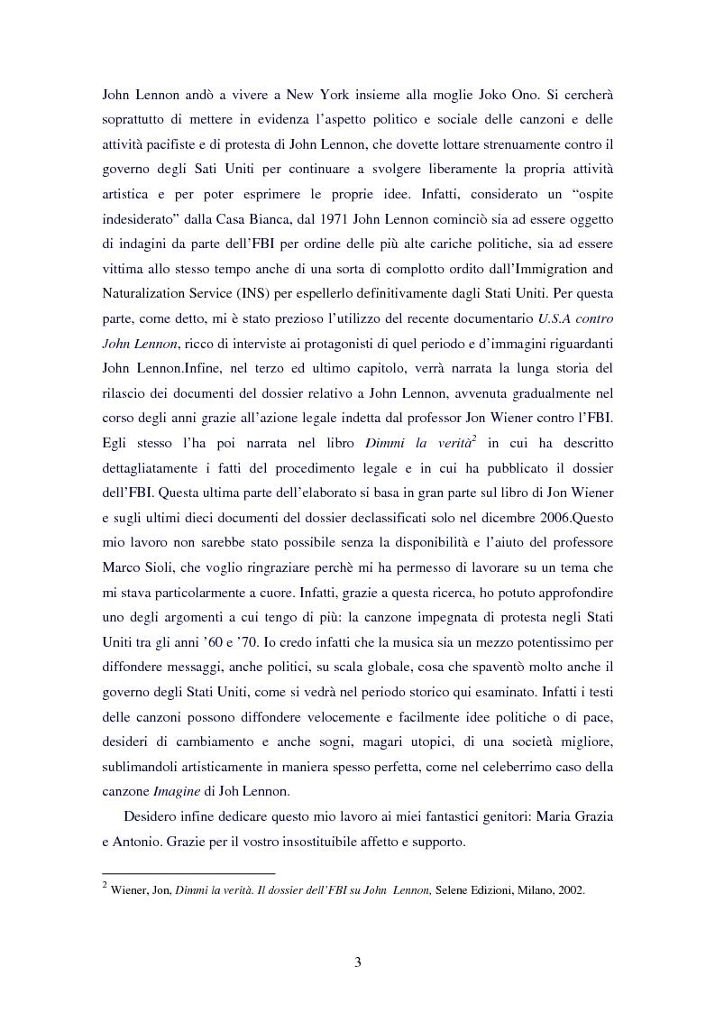 Anteprima della tesi: L'ospite indesiderato. Il governo degli Stati Uniti contro John Lennon (1971-1976)., Pagina 3
