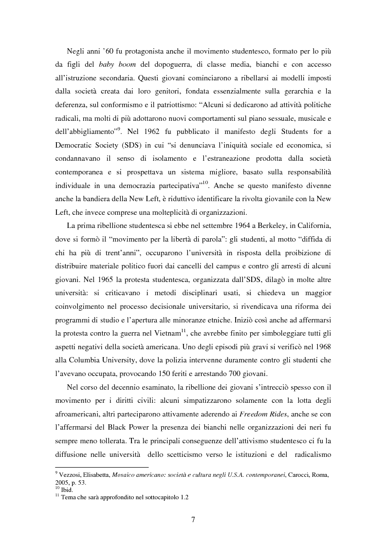 Anteprima della tesi: L'ospite indesiderato. Il governo degli Stati Uniti contro John Lennon (1971-1976)., Pagina 7