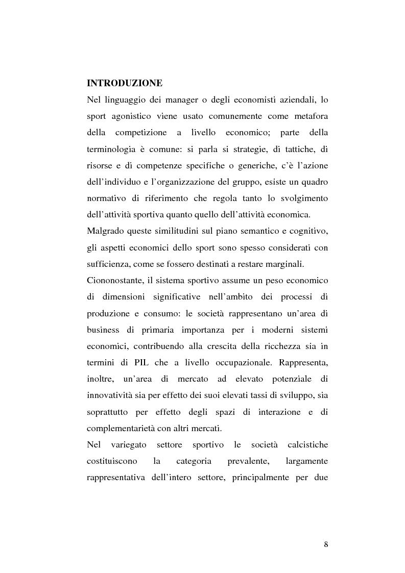 Anteprima della tesi: Le società di calcio nel contesto di gruppo aziendale: un confronto internazionale, Pagina 1