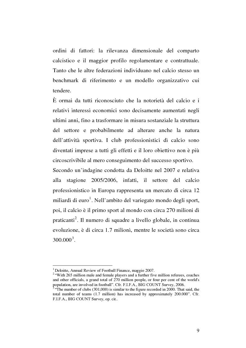 Anteprima della tesi: Le società di calcio nel contesto di gruppo aziendale: un confronto internazionale, Pagina 2