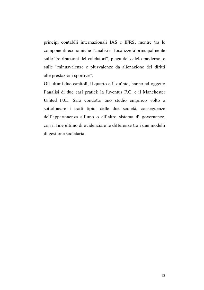 Anteprima della tesi: Le società di calcio nel contesto di gruppo aziendale: un confronto internazionale, Pagina 6