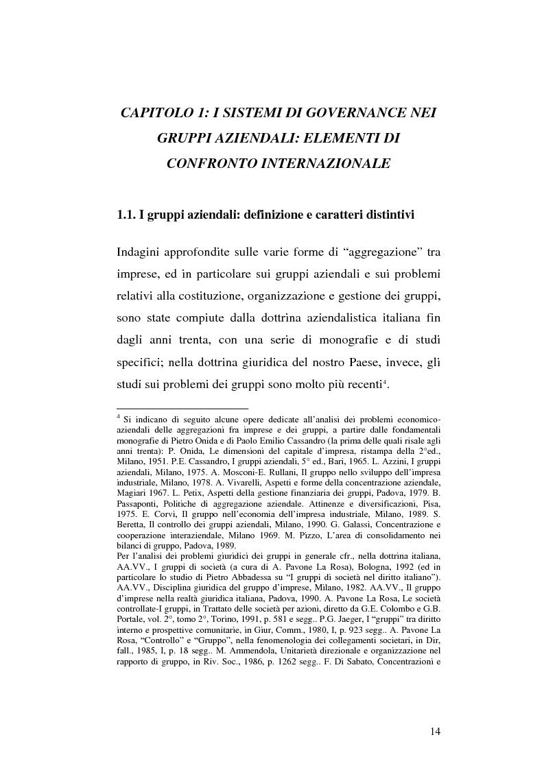 Anteprima della tesi: Le società di calcio nel contesto di gruppo aziendale: un confronto internazionale, Pagina 7
