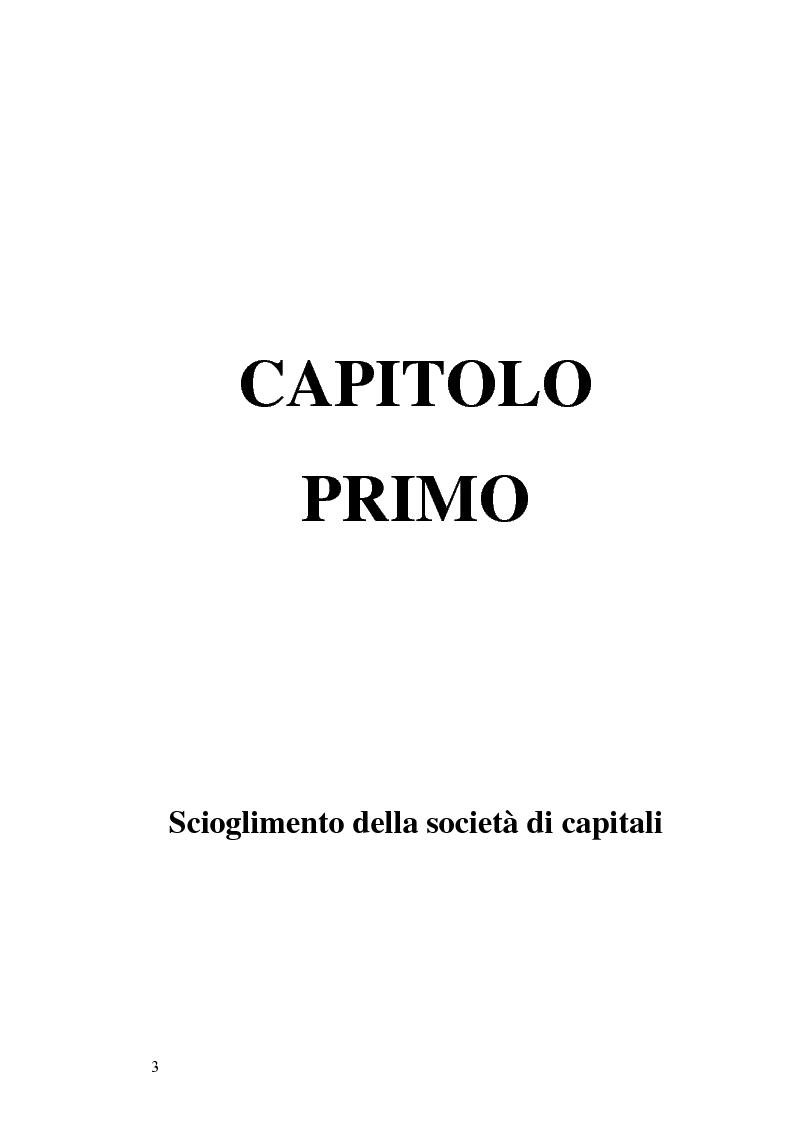 Anteprima della tesi: La nuova disciplina della liquidazione nelle società di capitali, Pagina 1