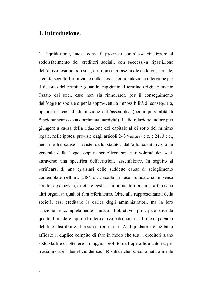 Anteprima della tesi: La nuova disciplina della liquidazione nelle società di capitali, Pagina 2