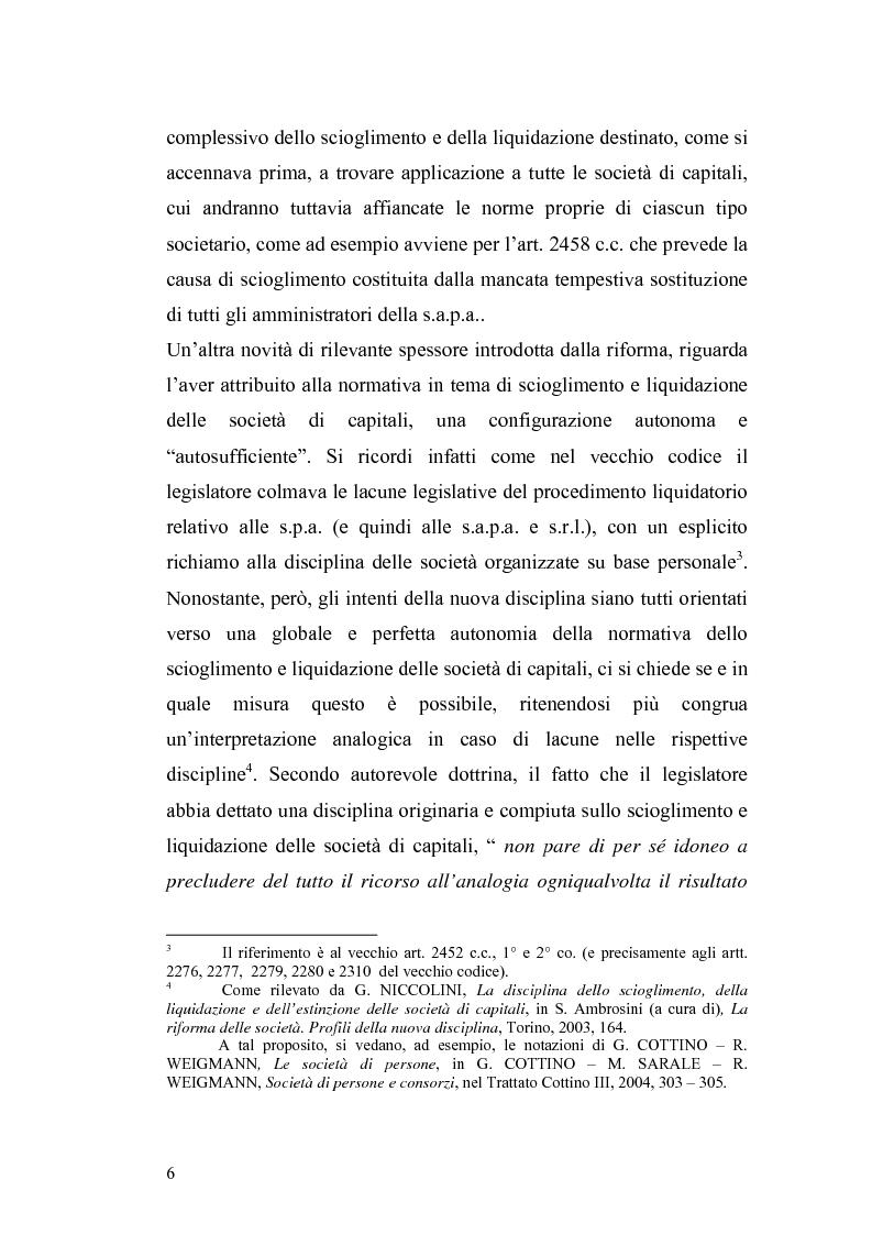 Anteprima della tesi: La nuova disciplina della liquidazione nelle società di capitali, Pagina 4