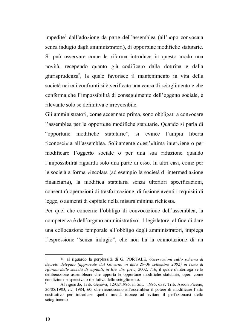 Anteprima della tesi: La nuova disciplina della liquidazione nelle società di capitali, Pagina 8