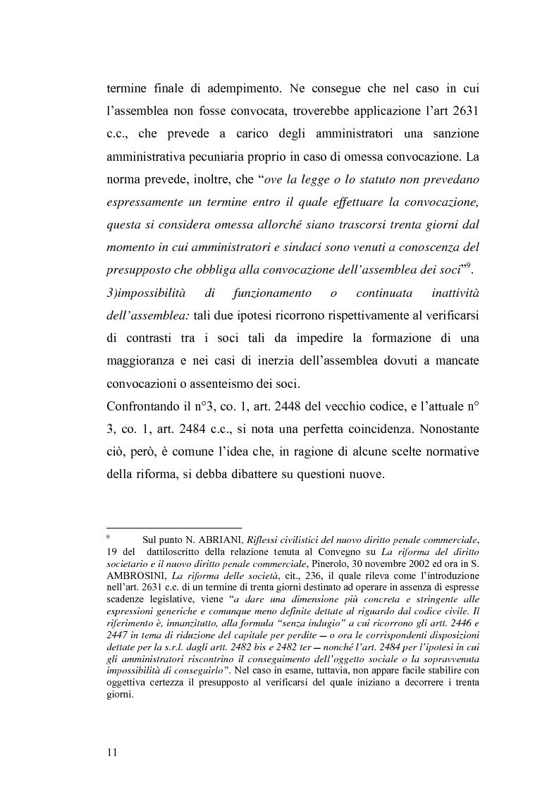 Anteprima della tesi: La nuova disciplina della liquidazione nelle società di capitali, Pagina 9