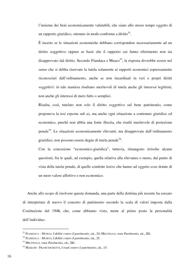 Anteprima della tesi: Il delitto di furto, Pagina 10