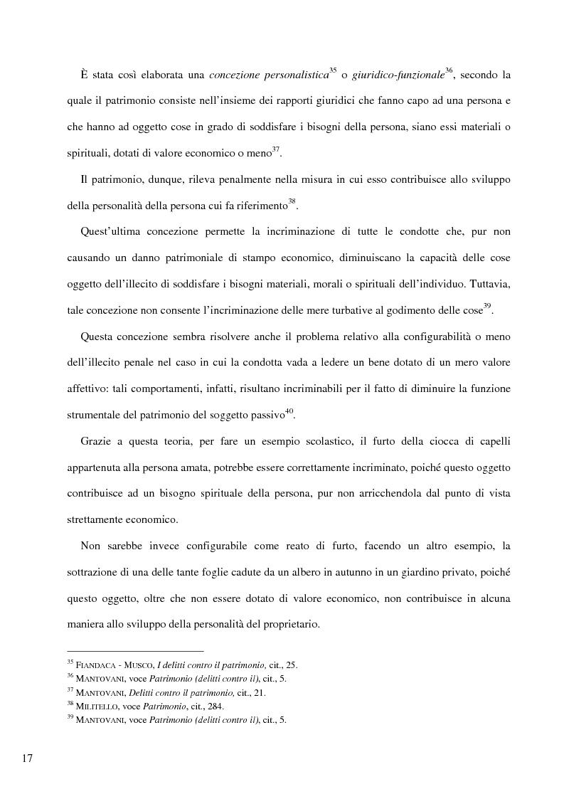 Anteprima della tesi: Il delitto di furto, Pagina 11