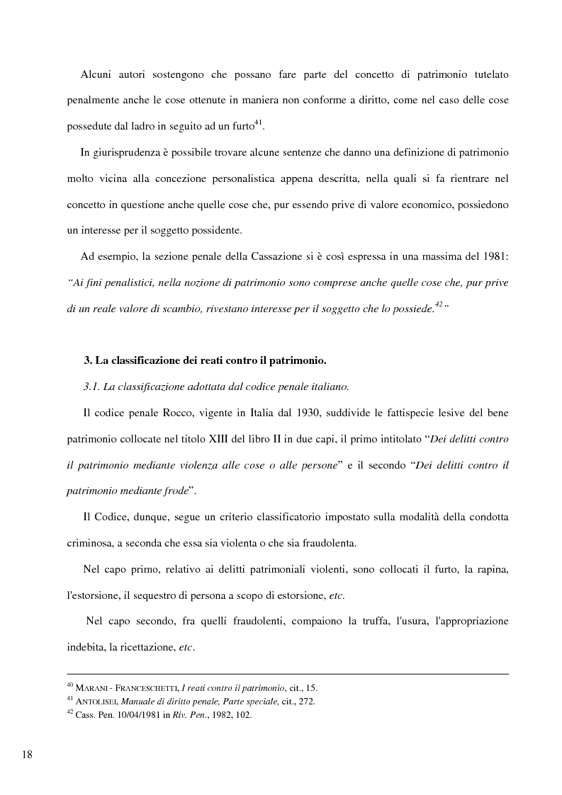 Anteprima della tesi: Il delitto di furto, Pagina 12