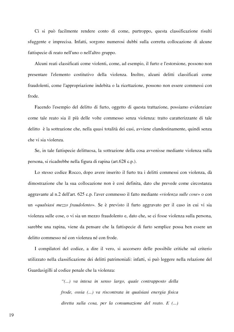 Anteprima della tesi: Il delitto di furto, Pagina 13
