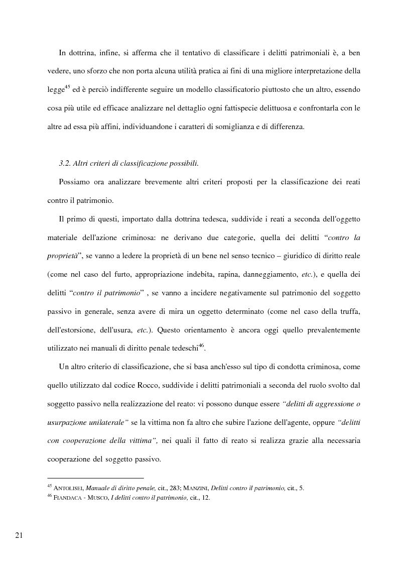 Anteprima della tesi: Il delitto di furto, Pagina 15