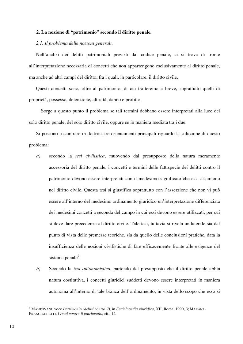 Anteprima della tesi: Il delitto di furto, Pagina 4