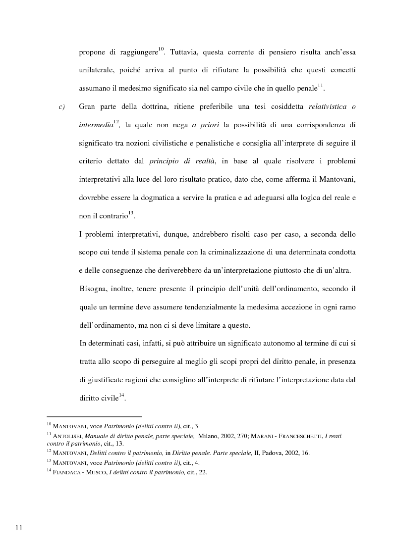 Anteprima della tesi: Il delitto di furto, Pagina 5