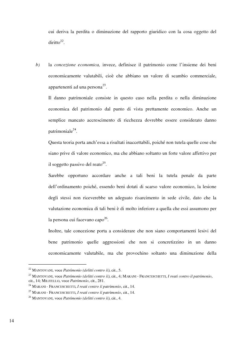 Anteprima della tesi: Il delitto di furto, Pagina 8