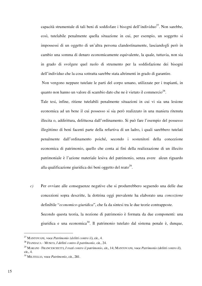 Anteprima della tesi: Il delitto di furto, Pagina 9