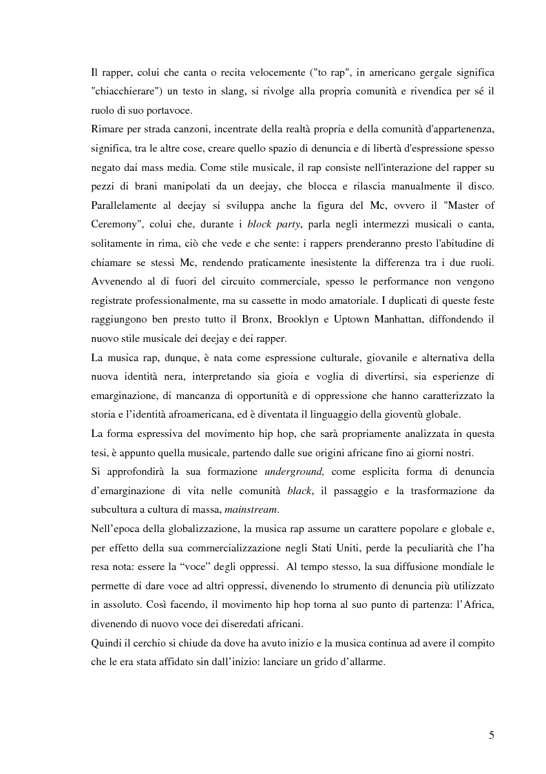 Anteprima della tesi: Hip hop state of mind: stories of blacks outsmarting whites, Pagina 3