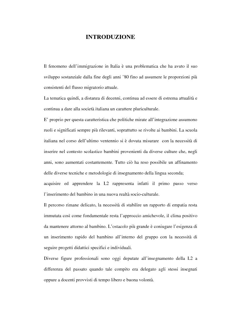 Anteprima della tesi: Le difficoltà di comprensione dei bambini stranieri e la semplificazione dei testi, Pagina 1