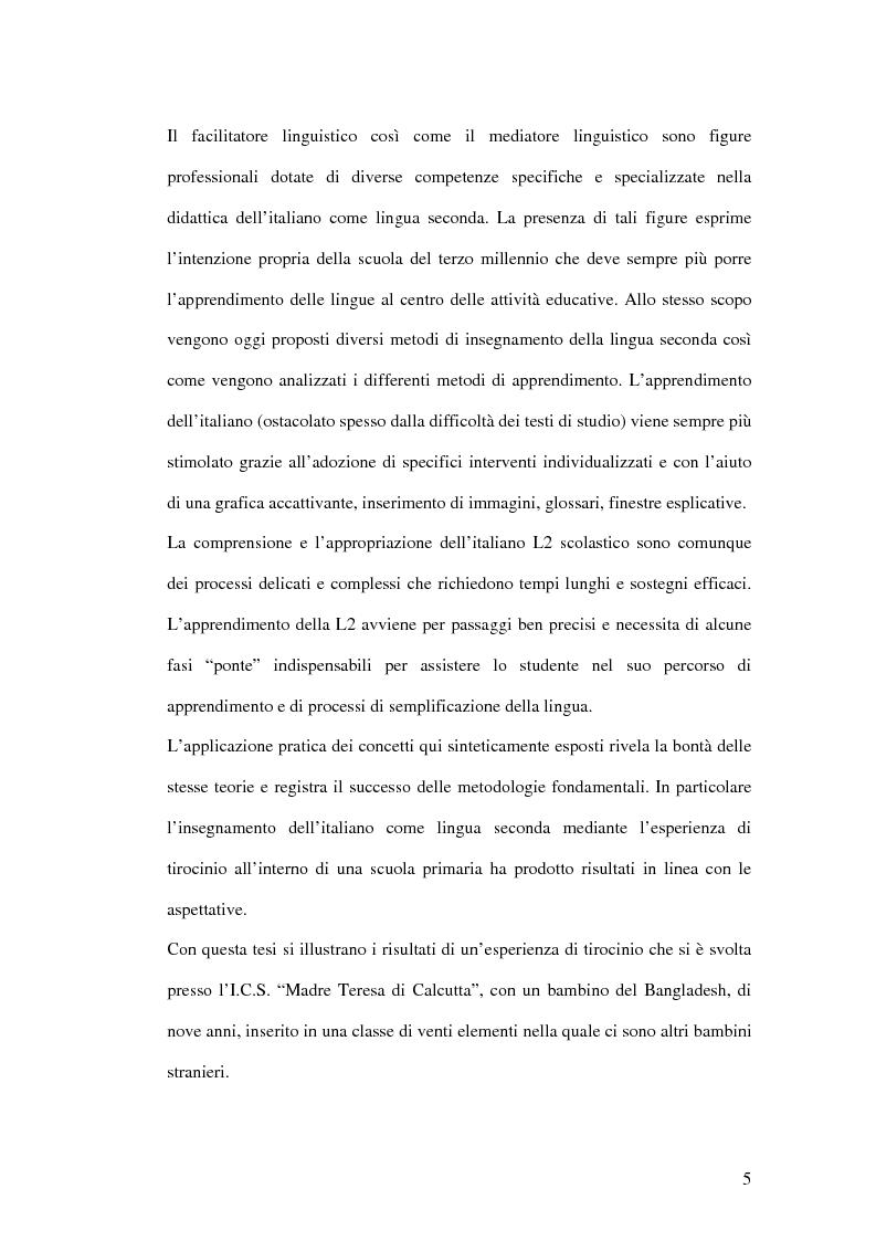 Anteprima della tesi: Le difficoltà di comprensione dei bambini stranieri e la semplificazione dei testi, Pagina 2