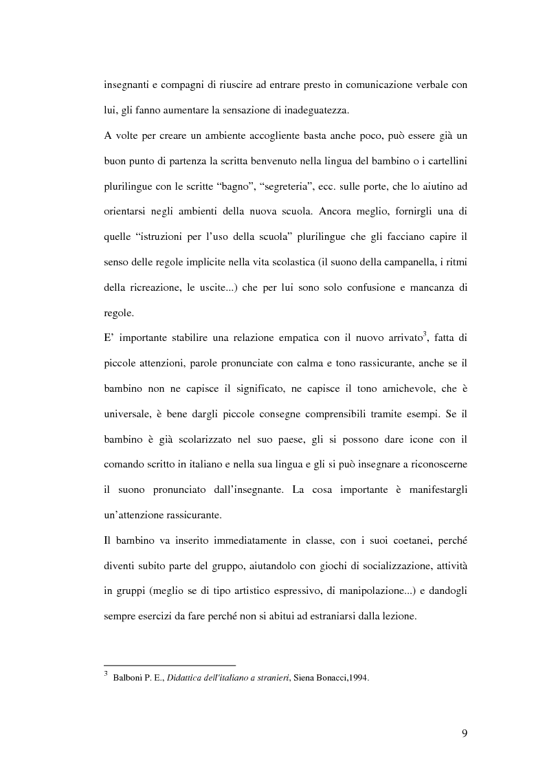 Anteprima della tesi: Le difficoltà di comprensione dei bambini stranieri e la semplificazione dei testi, Pagina 6