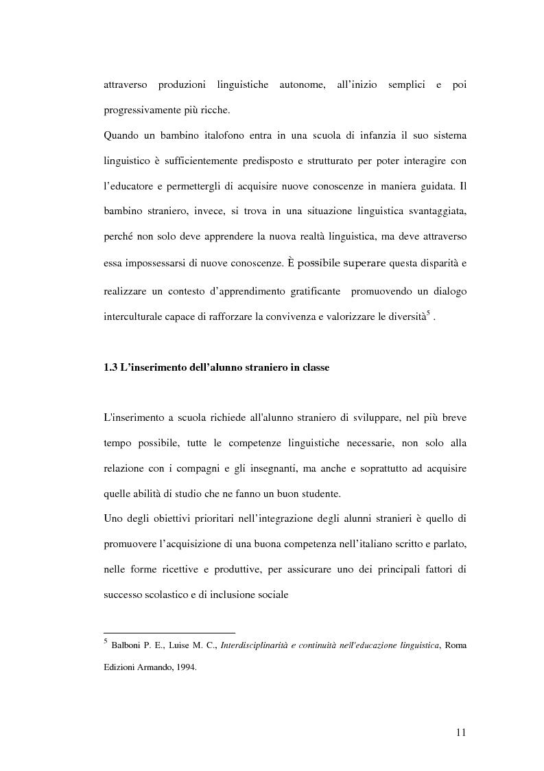 Anteprima della tesi: Le difficoltà di comprensione dei bambini stranieri e la semplificazione dei testi, Pagina 8