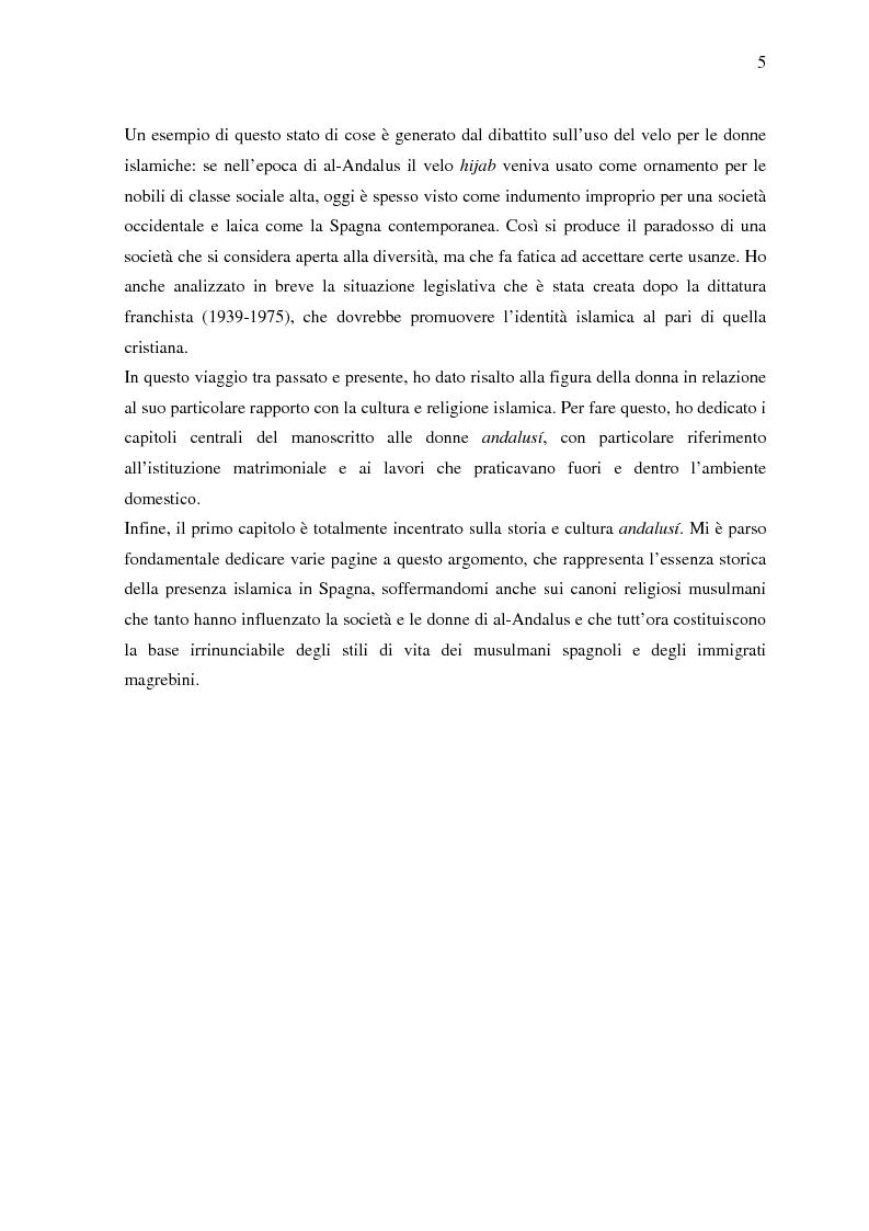 Anteprima della tesi: La donna in al-Andalus: aspetti storici e contemporanei, Pagina 2