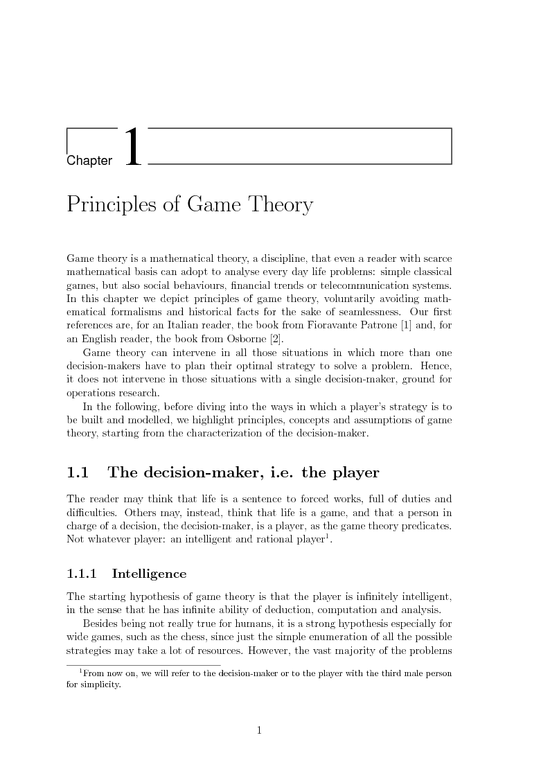 Anteprima della tesi: Game Theory for Internetworking, Pagina 1