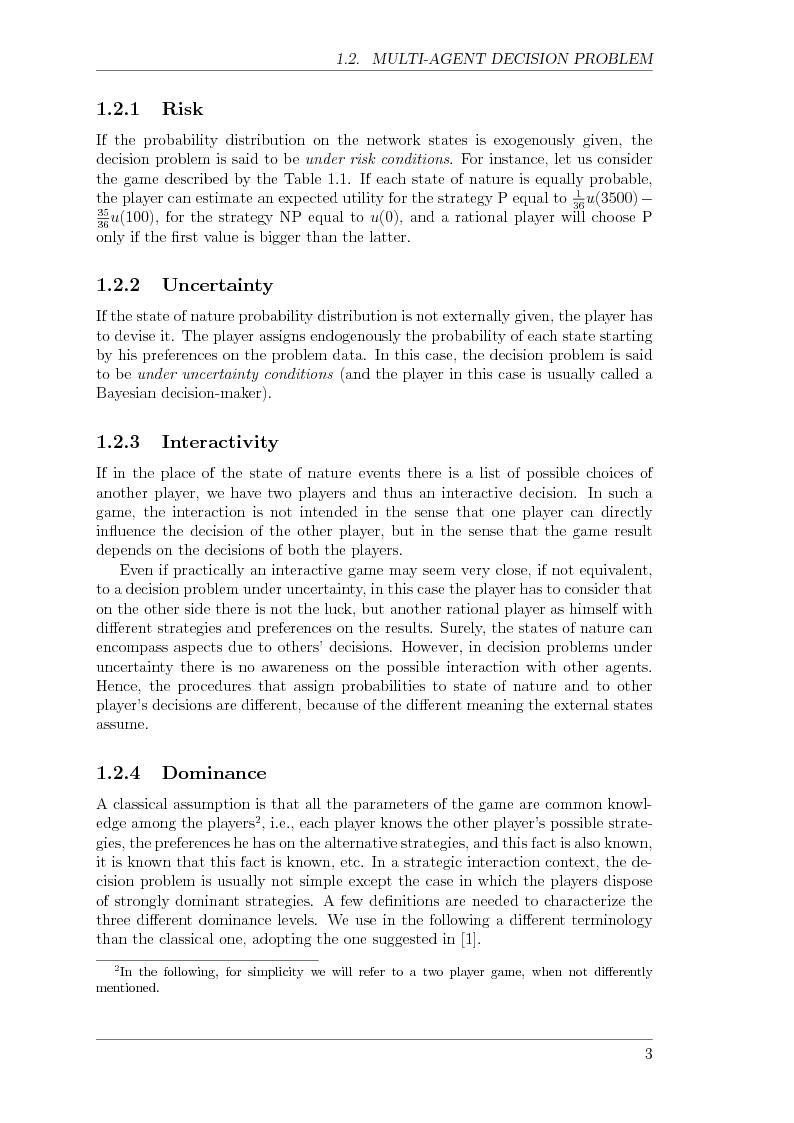 Anteprima della tesi: Game Theory for Internetworking, Pagina 3