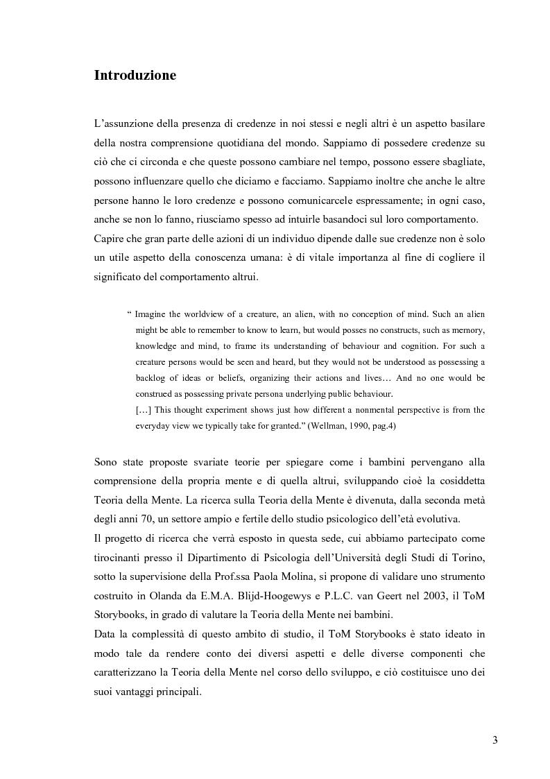 Anteprima della tesi: Un contributo alla validazione italiana del Tom Storybooks, Pagina 1