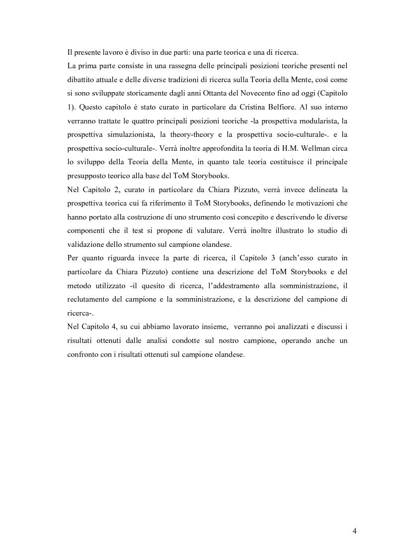 Anteprima della tesi: Un contributo alla validazione italiana del Tom Storybooks, Pagina 2