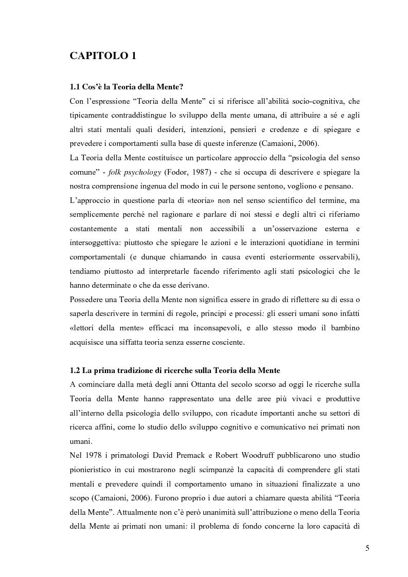 Anteprima della tesi: Un contributo alla validazione italiana del Tom Storybooks, Pagina 3