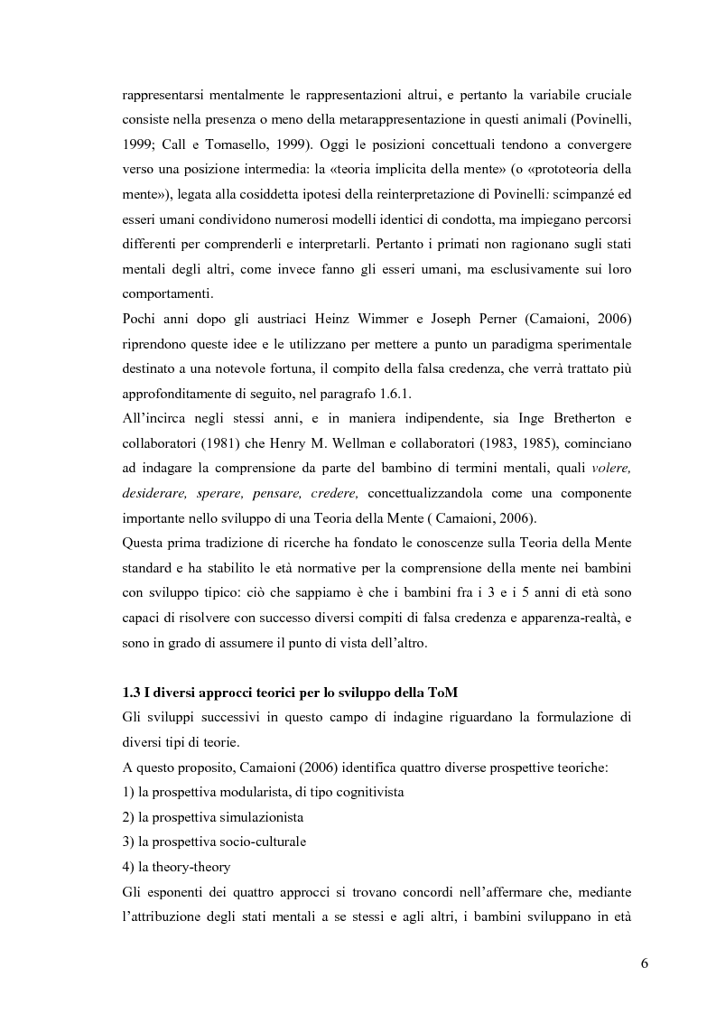 Anteprima della tesi: Un contributo alla validazione italiana del Tom Storybooks, Pagina 4