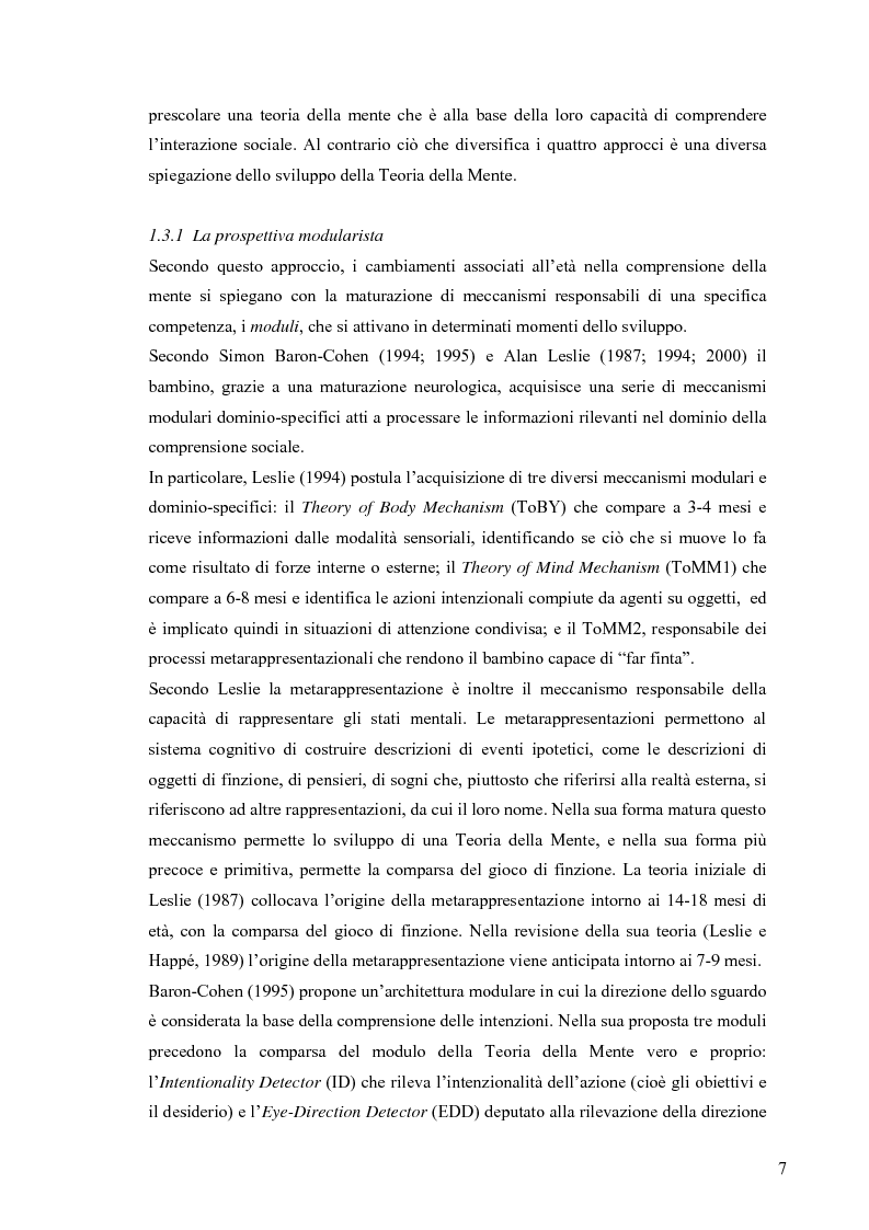 Anteprima della tesi: Un contributo alla validazione italiana del Tom Storybooks, Pagina 5