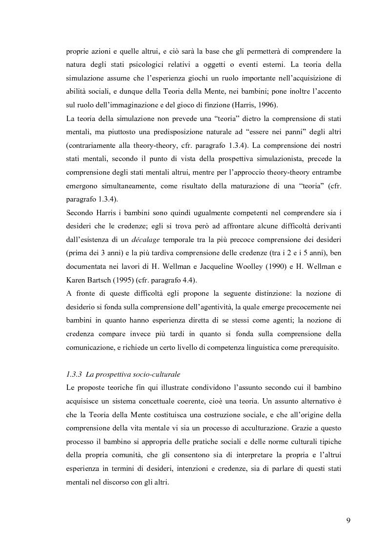 Anteprima della tesi: Un contributo alla validazione italiana del Tom Storybooks, Pagina 7