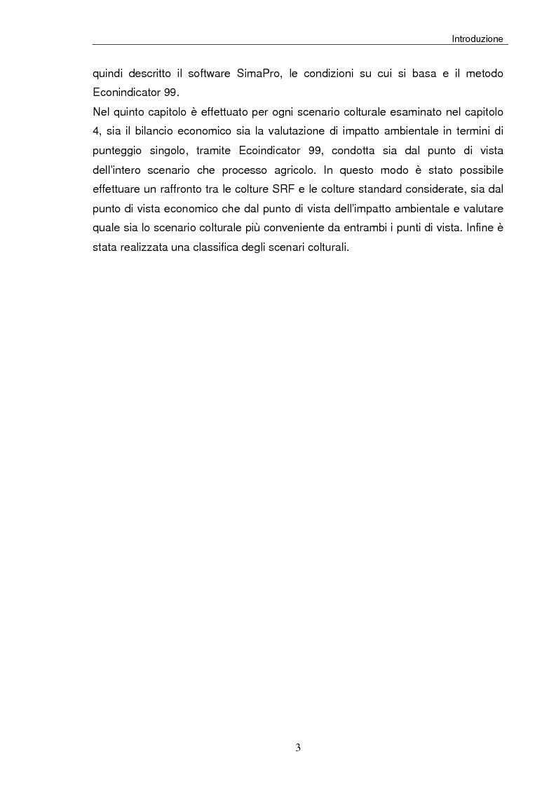 Anteprima della tesi: Analisi tecnica, economica ed ambientale di un campo coltivato a biomassa legnosa, Pagina 3