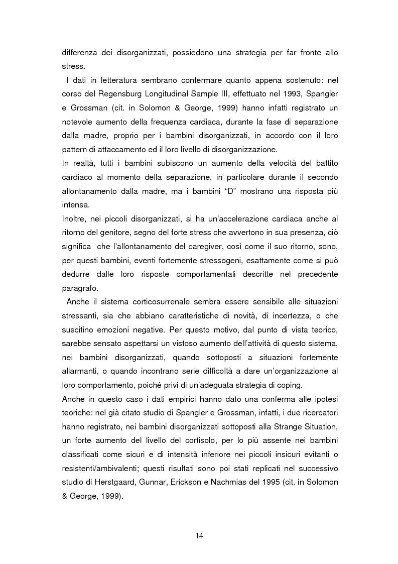 Anteprima della tesi: Disorganizzazione dell'attaccamento ed esiti psicopatologici lungo il ciclo di vita, Pagina 10