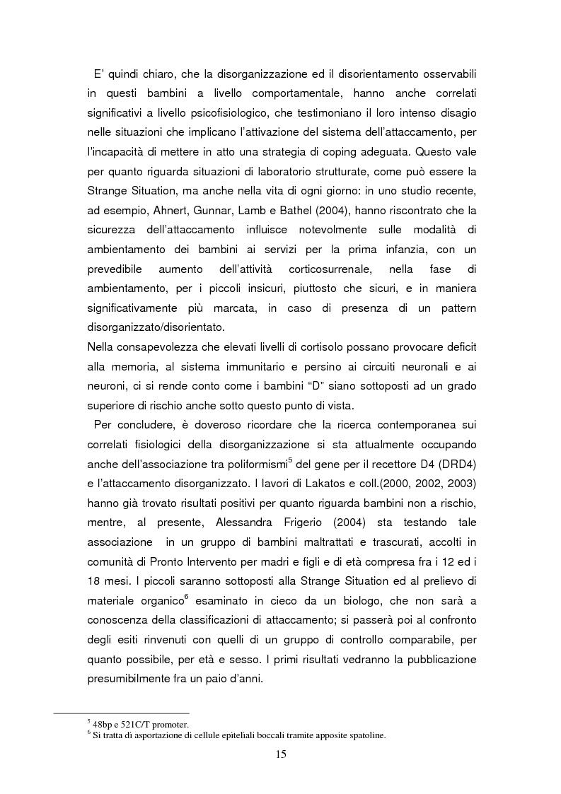 Anteprima della tesi: Disorganizzazione dell'attaccamento ed esiti psicopatologici lungo il ciclo di vita, Pagina 11