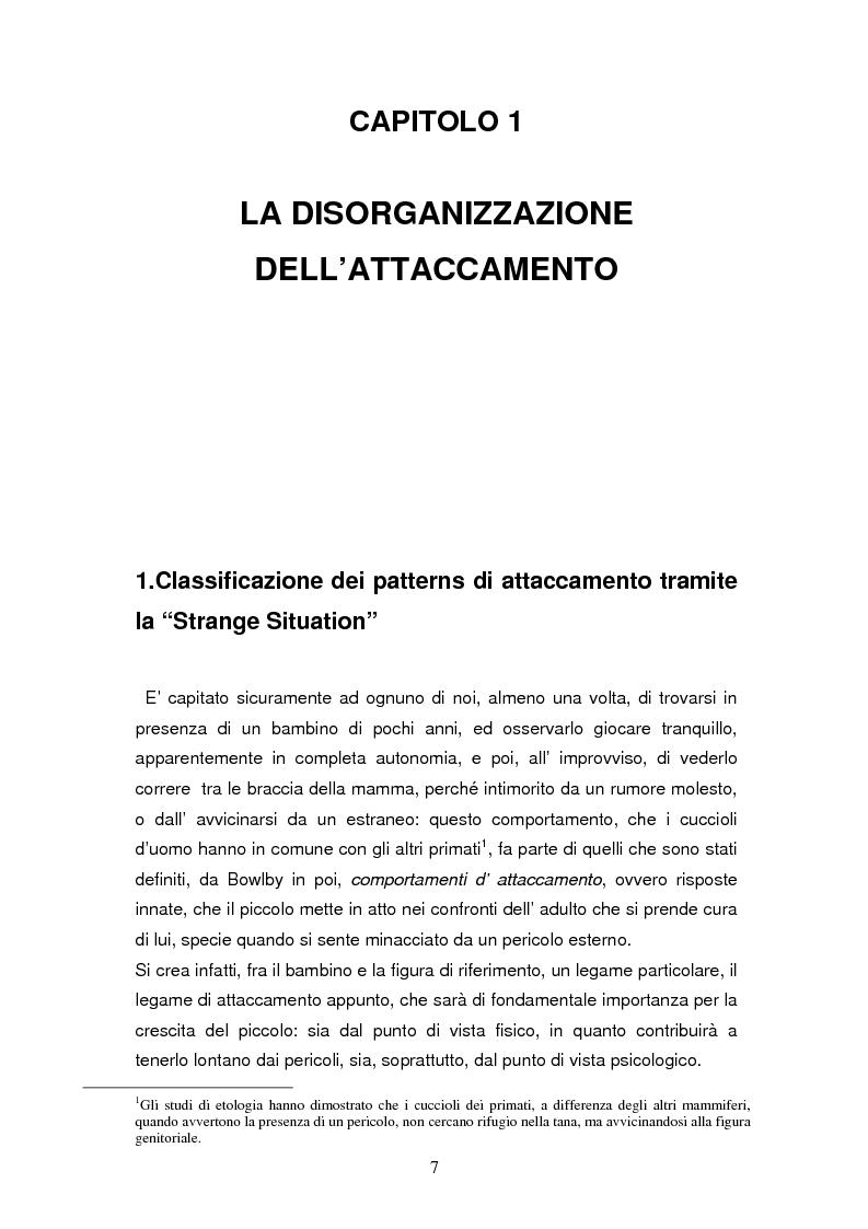 Anteprima della tesi: Disorganizzazione dell'attaccamento ed esiti psicopatologici lungo il ciclo di vita, Pagina 3