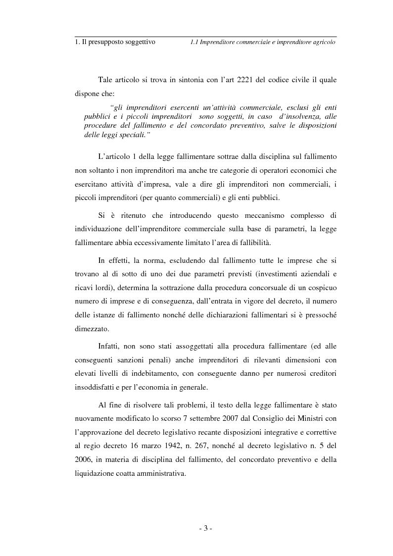 Anteprima della tesi: L'imprenditore soggetto a fallimento alla luce del decreto correttivo del settembre 2007, Pagina 3