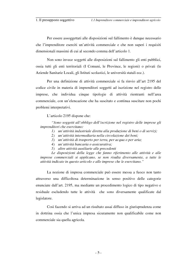 Anteprima della tesi: L'imprenditore soggetto a fallimento alla luce del decreto correttivo del settembre 2007, Pagina 5