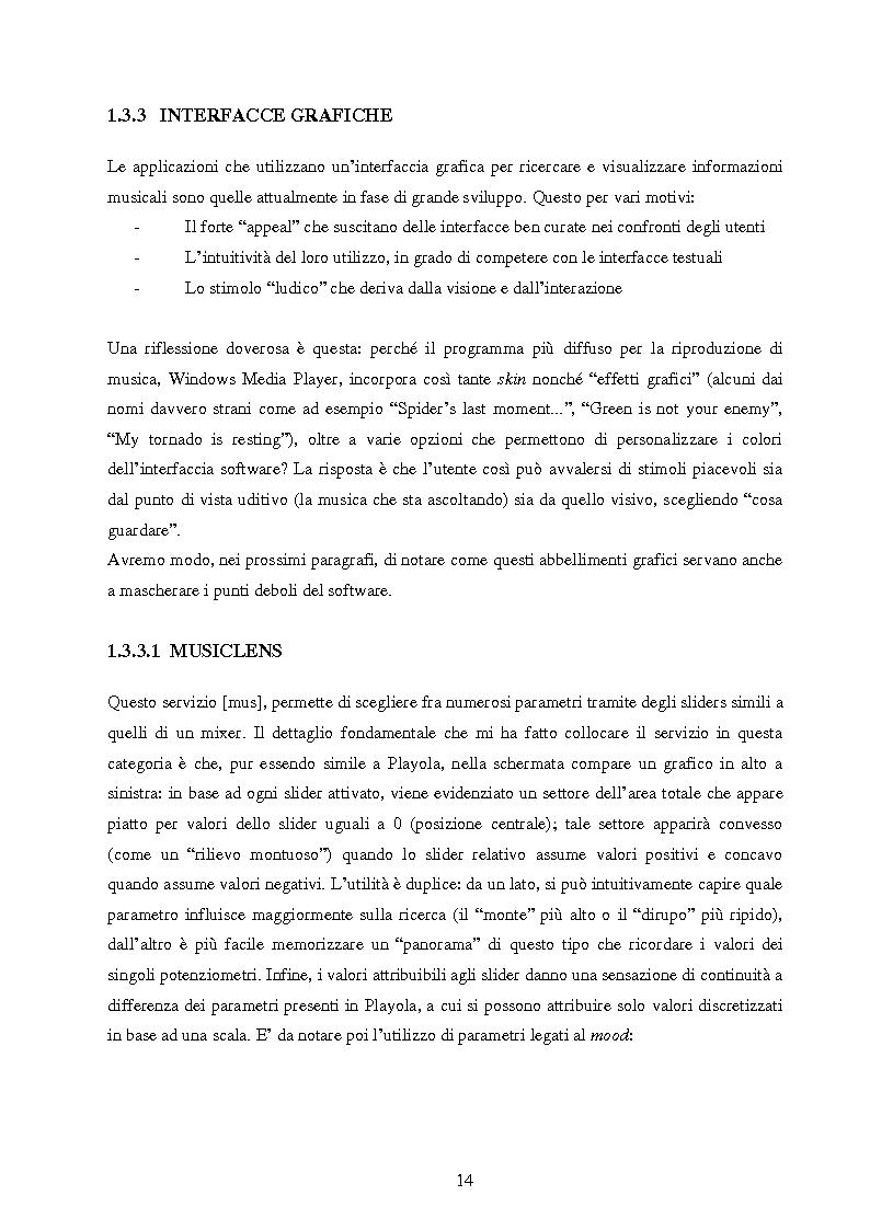 Anteprima della tesi: Analisi di interfacce per la ricerca di brani musicali: finalità mood-based e prototipo di Music Mood Galaxy, Pagina 8