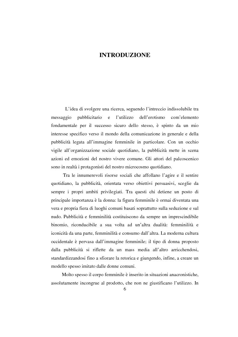 Anteprima della tesi: Sex & Spot. Allusioni erotiche nella pubblicità, Pagina 1
